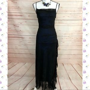 City Triangles Black & Blue Evening Gown